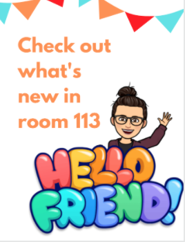 Bitmoji welcome